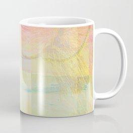 Blossoms Trees Pink Yellow Abstract Coffee Mug