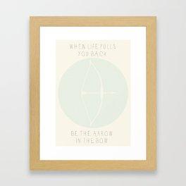 When Life Pulls You Back.. Framed Art Print