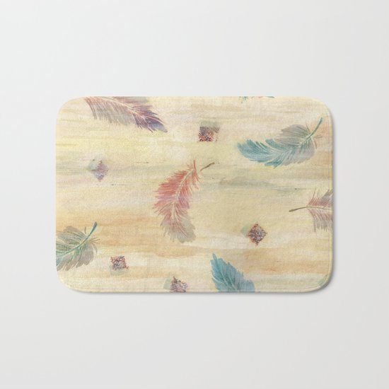 feather weather Bath Mat
