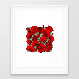 Poppies II Framed Art Print