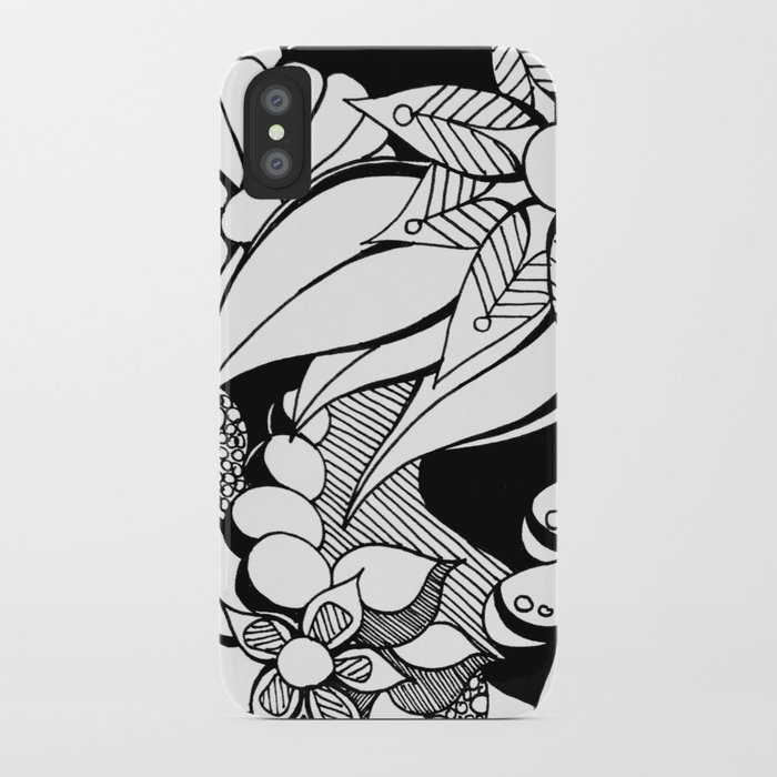 43579b295e6 Floral Freak Doodle Art iPhone Case by heididenney | Society6