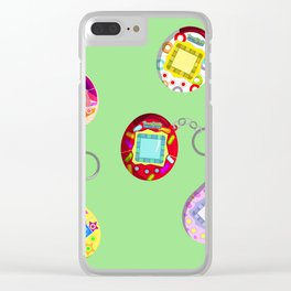 Tamagotchi Connection 2004-Green Clear iPhone Case