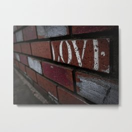 Love Graffiti-Colorized Metal Print