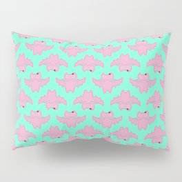 Pink Bat Pillow Sham