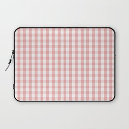 Large Lush Blush Pink and White Gingham Check Laptop Sleeve