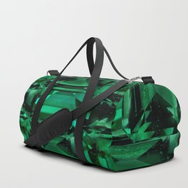 CLUSTERED FACETED EMERALD GREEN MAY GEMSTONES Duffle Bag