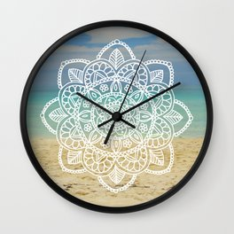 Beach Mandala Wall Clock