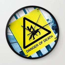 Danger of Death #3 | Press PLAY To Die Wall Clock
