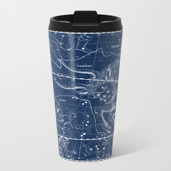 Taurus sky star map Metal Travel Mug