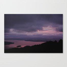 magenta sunset over lake te anau Canvas Print