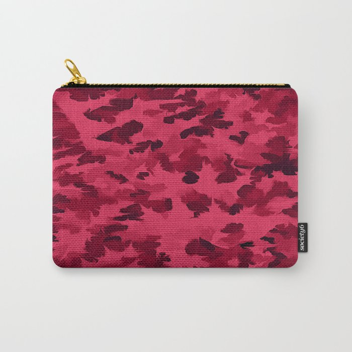 Foliage Abstract Pop Art Blush Red Carry-All Pouch