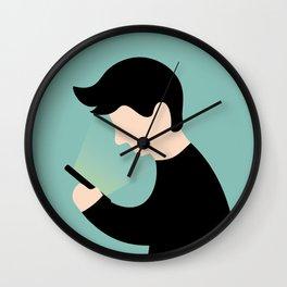 Urban Hermit - smartphone addiction Wall Clock