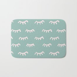 Mint Sleeping Eyes Of Wisdom - Pattern - Mix & Match With Simplicity Of Life Bath Mat
