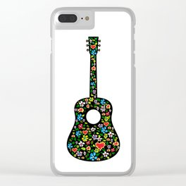 Acoustic Folk Art Clear iPhone Case