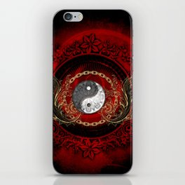 The sign ying and yang iPhone Skin