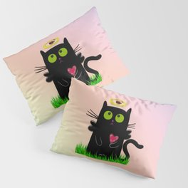 angel cat and ladybug Pillow Sham