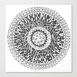 Tangle Mandala Canvas Print