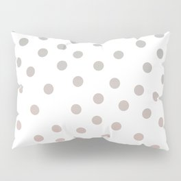 Simply Dots in Coral Peach Sea Green Gradient on White Pillow Sham
