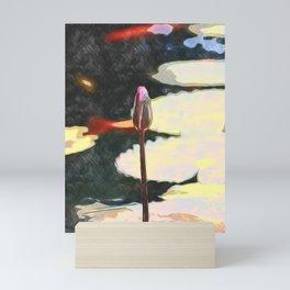 lotus bud painting Mini Art Print