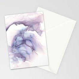 Eggplant Wispy Overhang Stationery Cards