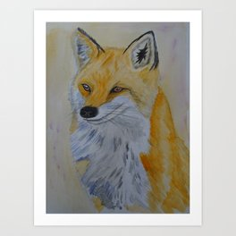 Watercolour Fox Art Print