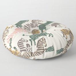 Zebra Stampede Floor Pillow