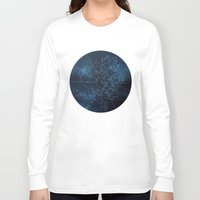map Long Sleeve T-shirts featuring Celestial Map by Rose's Creation