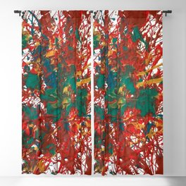 """Abstract composition """"Pollok style"""" 60's 70's.  Blackout Curtain"""