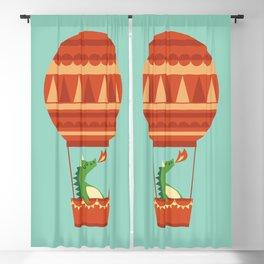 Dragon On Hot Air Balloon Blackout Curtain