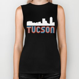 Red White Blue Tucson Arizona Skyline Biker Tank
