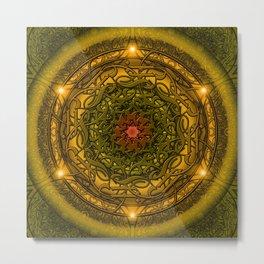Happiness Mandala Metal Print