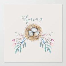 spring nest Canvas Print