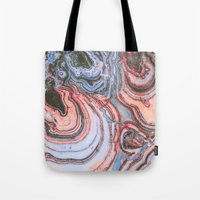 agate Tote Bags featuring Agate by Jessilee Shipman