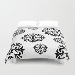 Black & White Flowers Duvet Cover