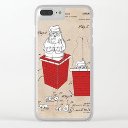 patent art Rubens Disappearing Santa in Chimney 1960 Clear iPhone Case