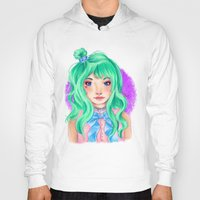 mint Hoodies featuring Mint by Hetty's Art