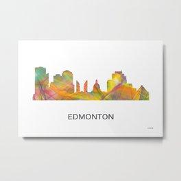 Edmonton Alberta Skyline WB1 Metal Print