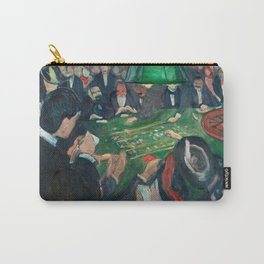 At the Roulette Table in Monte Carlo by Edvard Munch Carry-All Pouch
