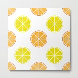Orange and lemon fruit slices Metal Print