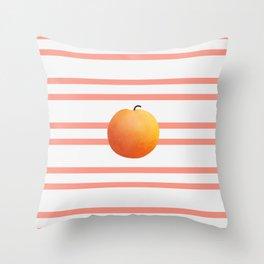 Ruston Peach Rugby Stripe Throw Pillow