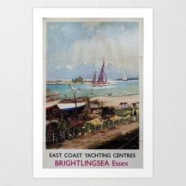 Brightlingsea Essex Vintage Travel Poster Art Print