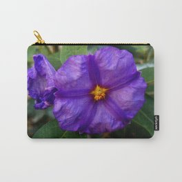 flower and nature - blue flower 2 Carry-All Pouch