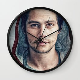 Stiles and his Red Hoodie Wall Clock