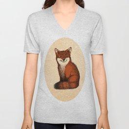 Feeling Foxy Woodland Animal Illustration Unisex V-Neck
