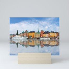 A Panorama of Gamla Stan in Stockholm, Sweden Mini Art Print