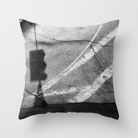 street Throw Pillows featuring street by shveshki.istorii