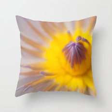 Mauve and yellow lily heart Throw Pillow