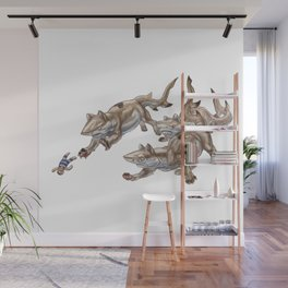 Black Tip Shark Cat Kittens :: Series 2 Wall Mural