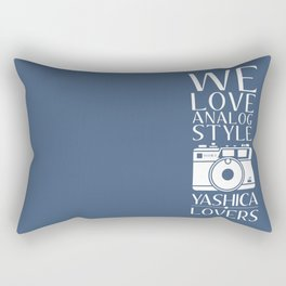 """We Love Analog"" Rectangular Pillow"