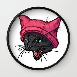 The Cat in the Hat (Black) Wall Clock